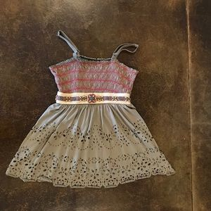 Free People khaki and colorful tank